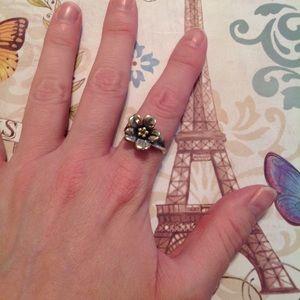 James Avery April Flower Ring - Retired